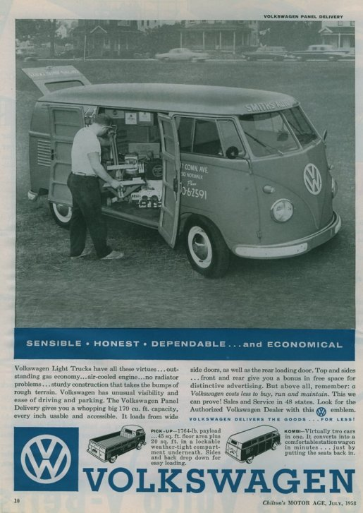 VW paneldelivery 1958