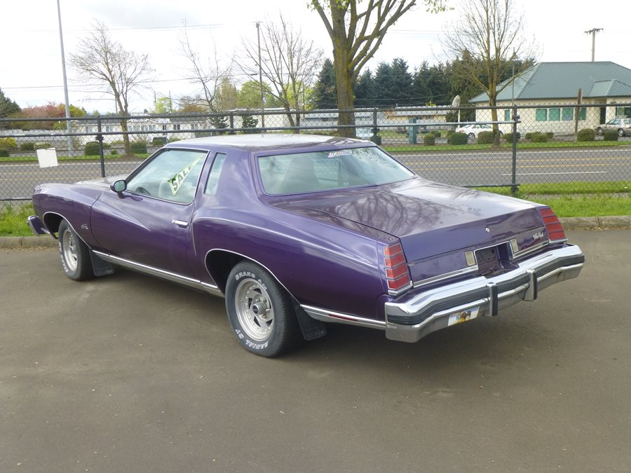 Curbside Classic For Sale: Purple 1975 Chevrolet Monte Carlo ...