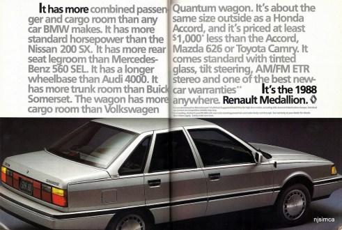 Renault Medallion 1988 ad