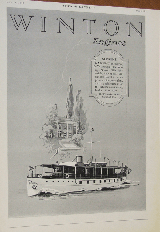 Winton Mrine engine 1928