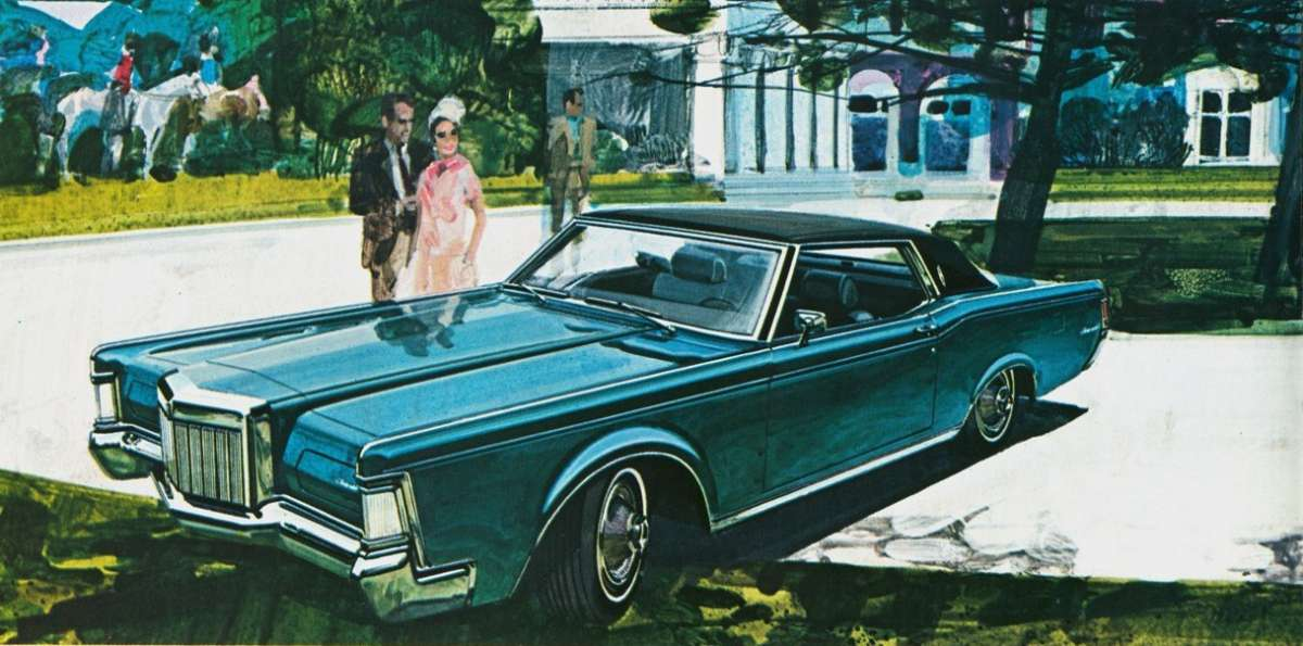 from the time lee iacocca decreed that a thunderbird with a six foot long hood would serve as lincolns flagship mark iii cc here the continental mark
