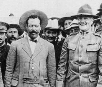 John J Pershing and Pancho Villa in 1914