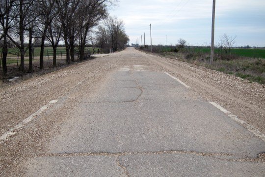 Original alignment of US 66 near Miami, Oklahoma