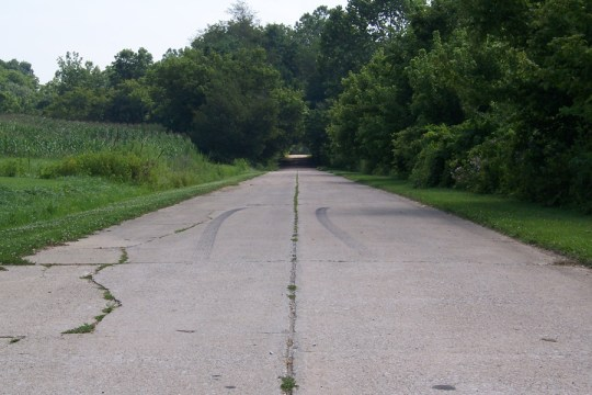 Old US 40, formerly the National Road, near Reelsville, Indiana