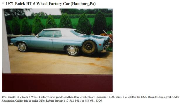 Buick 6 wheel ad