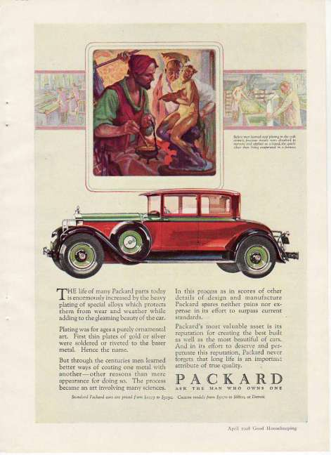 Packard 1920s ad