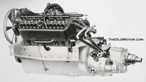 Packard twin six engine