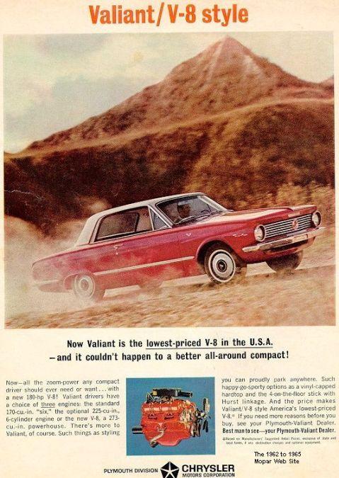 Plymouth 1964 Valiant V8 ad
