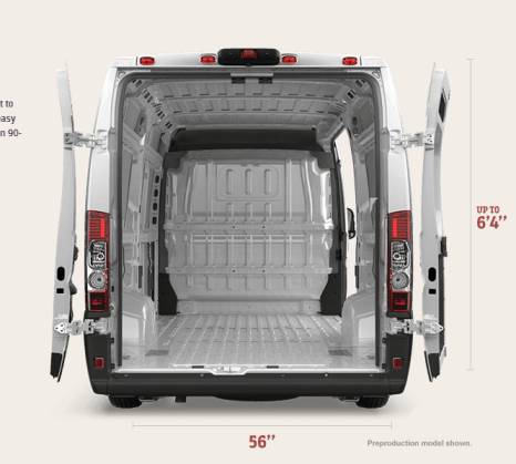 Ram Promaster Rear on Ford V6 Engine Blueprints