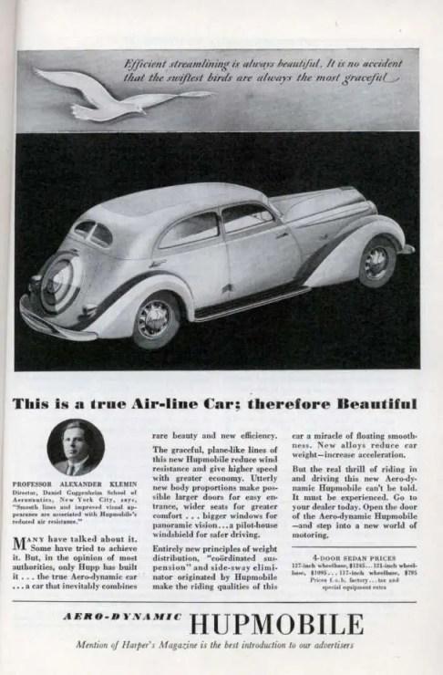 Hupmobile 1934 ad