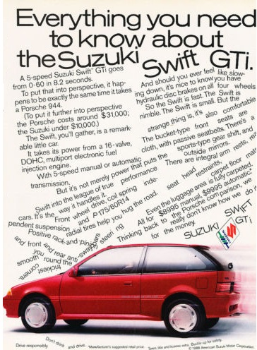 Suzuki Swift GTi ad 1