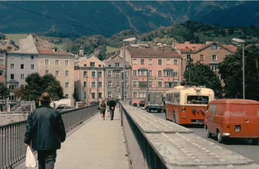O Bus Innsbruck Hottinger brucke 1975
