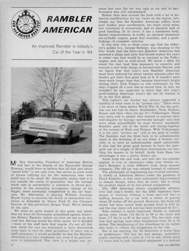 Rambler American 1964 C&D 001 1200