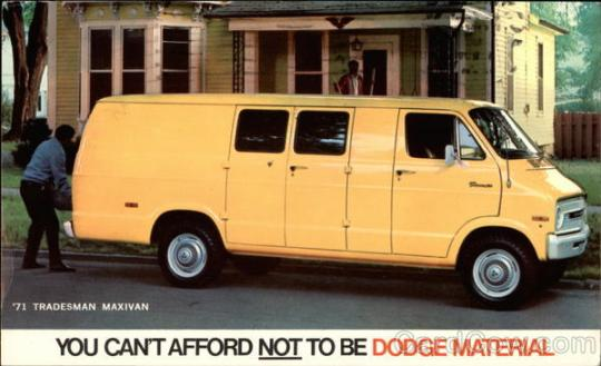 1971 Dodge Tradesman Maxivan Balto