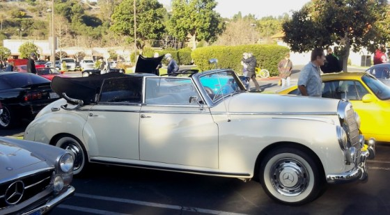 Early 50s Mercedes convertible