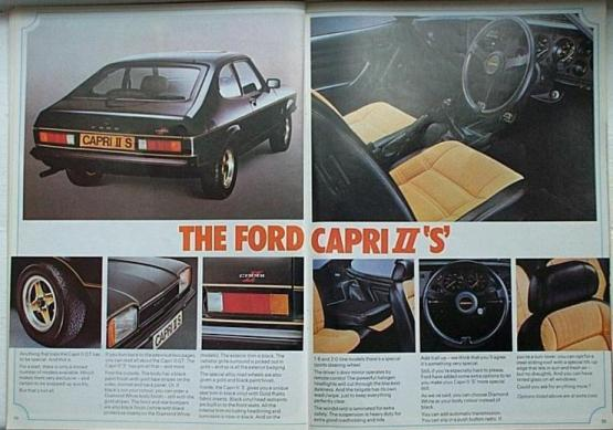 Ford Capri S advert