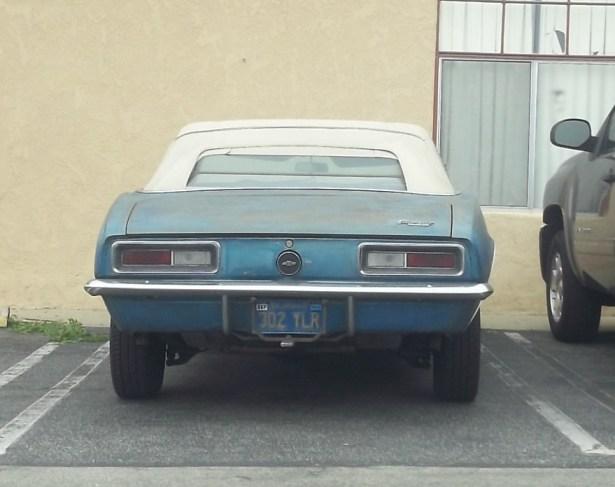 67 Camaro rear