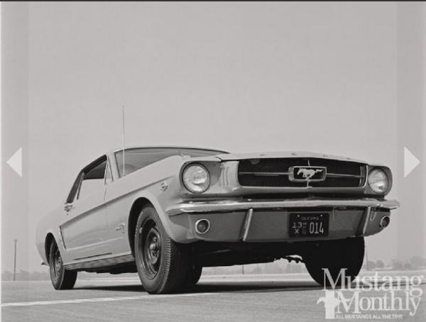 Mustang 1964.5 hipo 15 tires