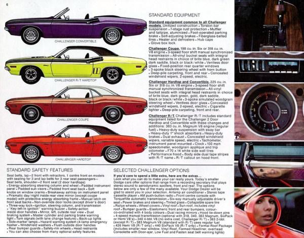 Dodge Challlenger 1971 brochure