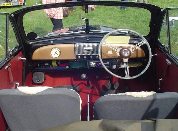 1955 Morris Minor interior
