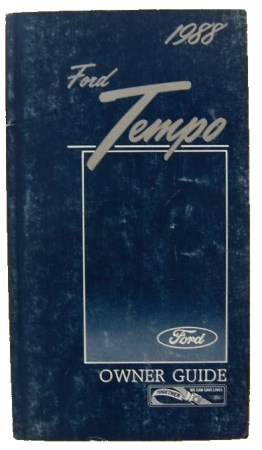1988 Ford Tempo manual 1