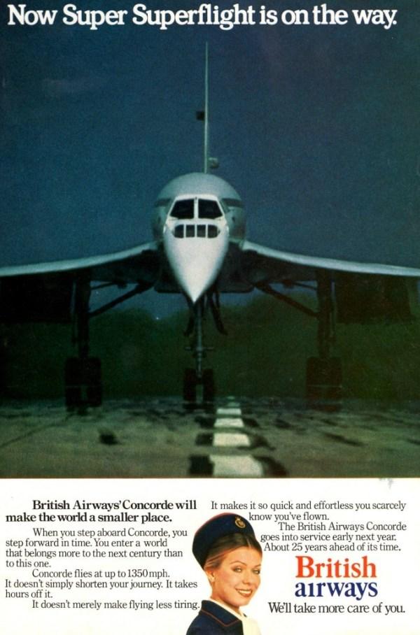 BA Concorde advert