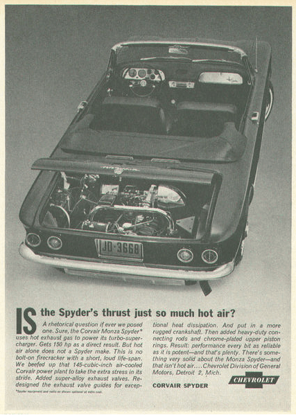 Corvair 1962 spyder-ad