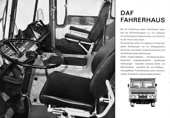 DAF 2600 interieur Duitse folder