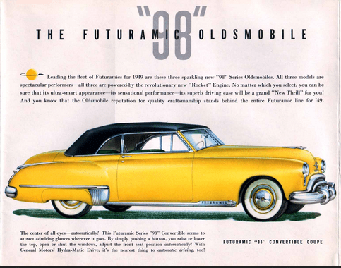Olds 1949 convertible coupe