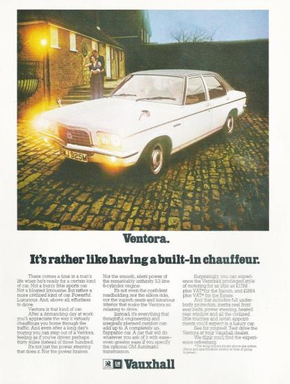 Ventora FE advert 1974