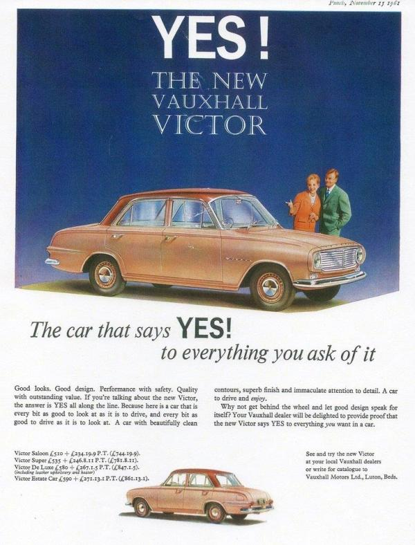 Vicotr FB advert 1961