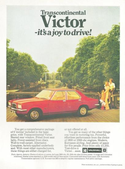 Victor FE advert 1973