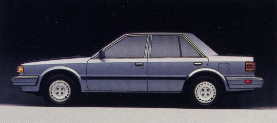 nissan_stanza_gxe_sedan_blue_profile_1988