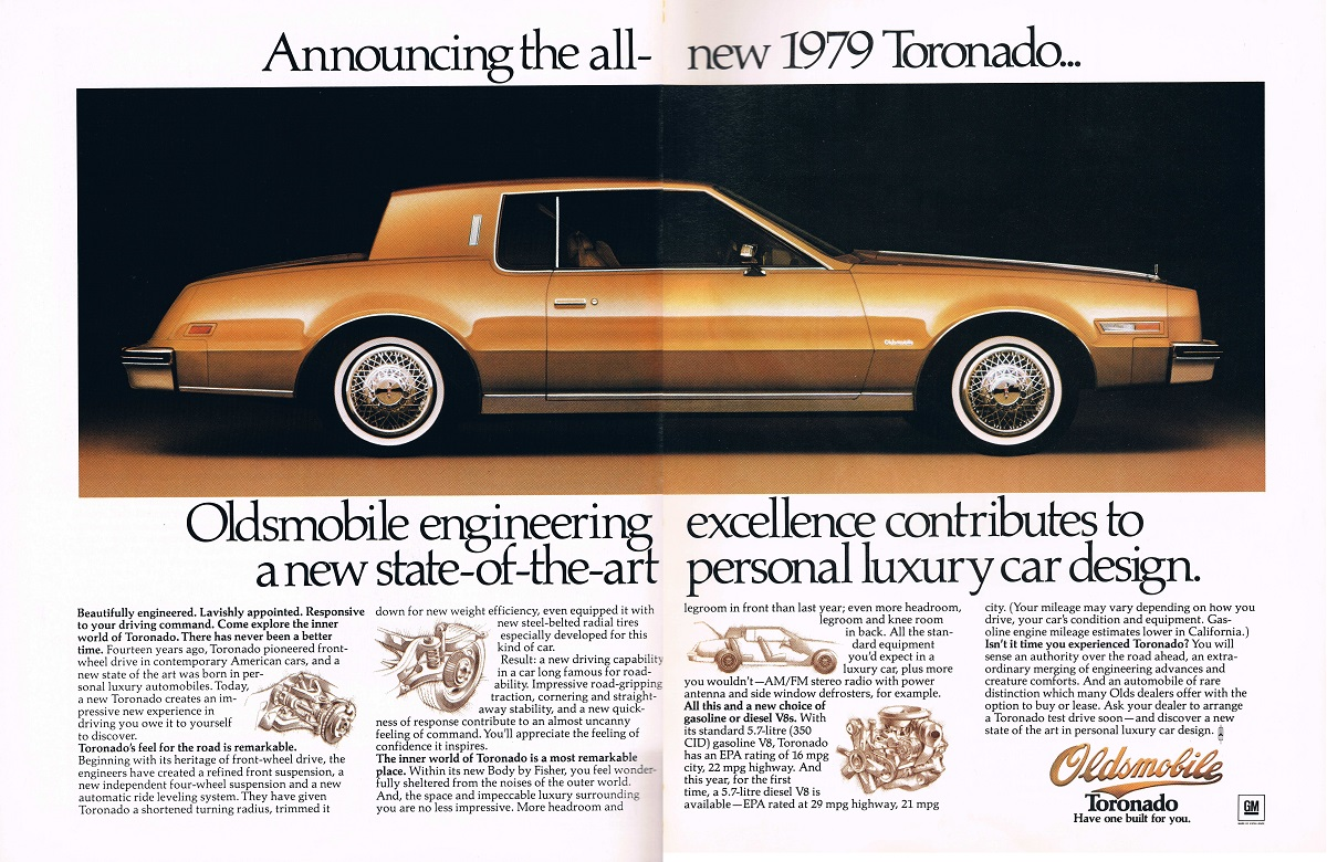 Curbside Classic 1979 85 Oldsmobile Toronado The Forgotten E Body