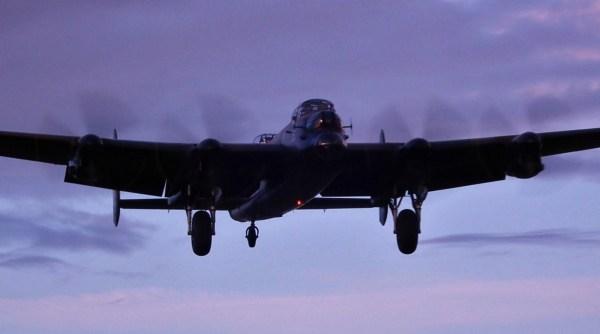 lancaster evening landing