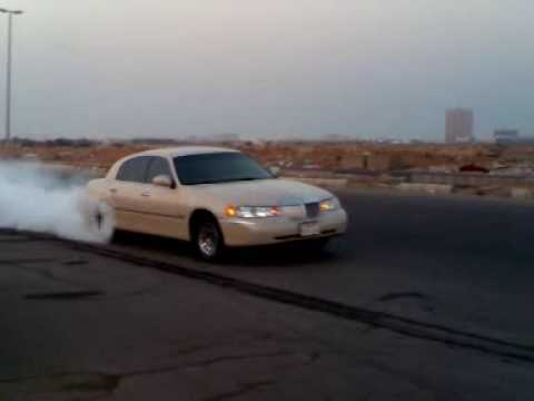 lincoln town car burnout