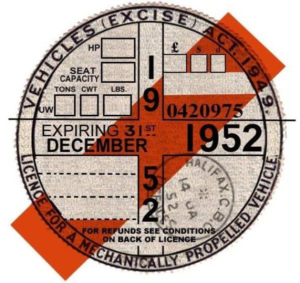 1952 tax disc