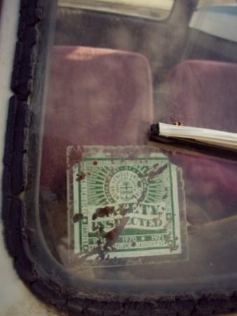 1965 Envoy Epic inspection sticker