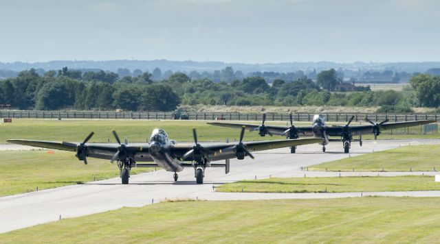 2 lancasters taxing