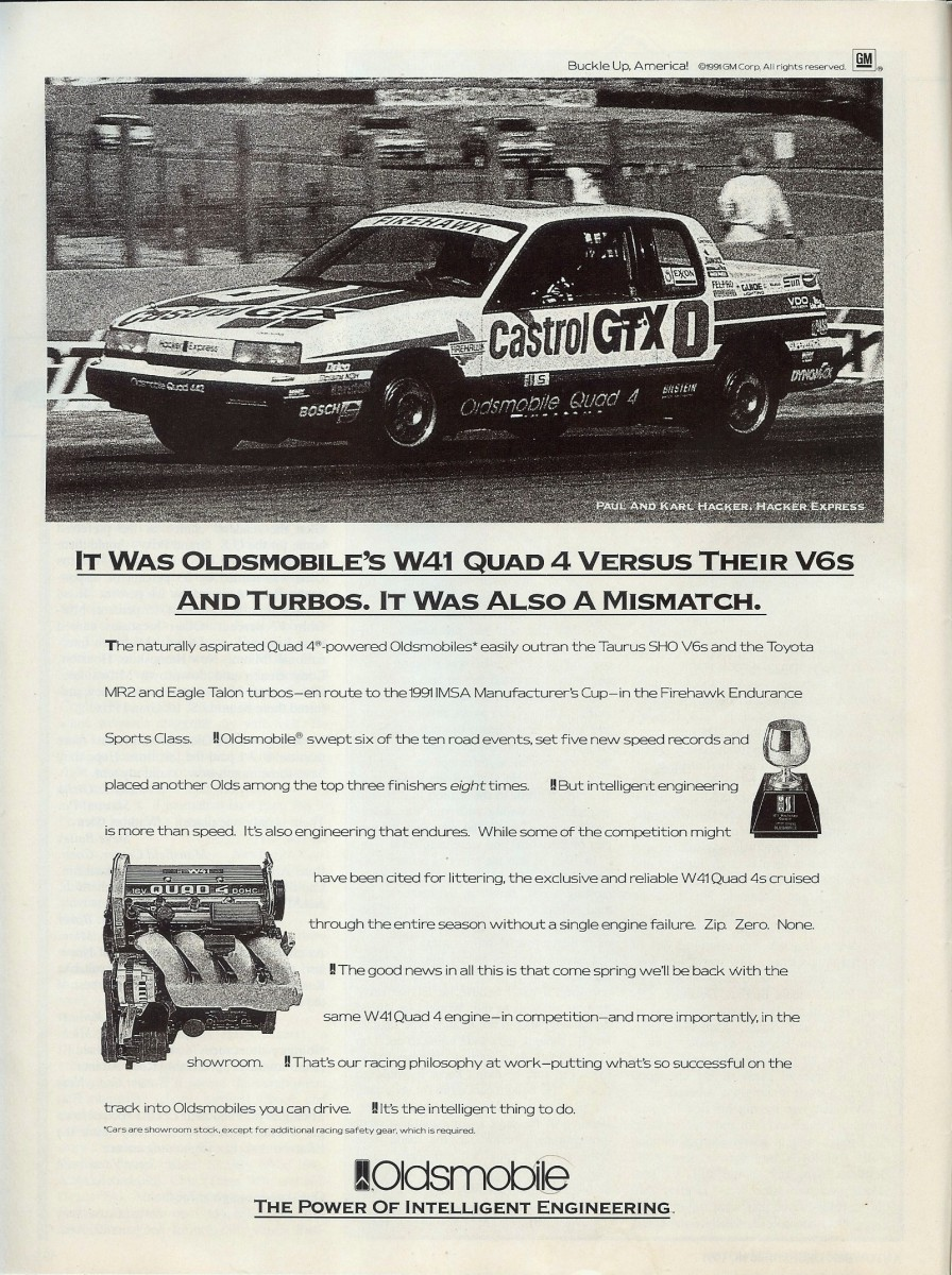 Ad classic the n body goes racing this ad brings up an interesting question how do you promote a relatively new engine in a dated unremarkable car in oldsmobiles case for this december fandeluxe Gallery