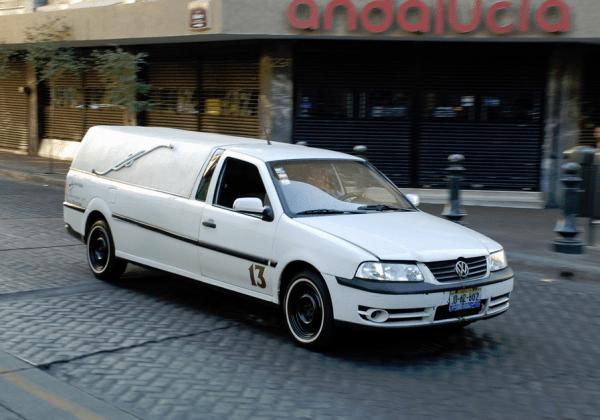 VW hearse