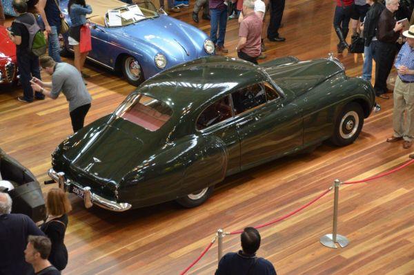 1954 Bentley Continental R overhead