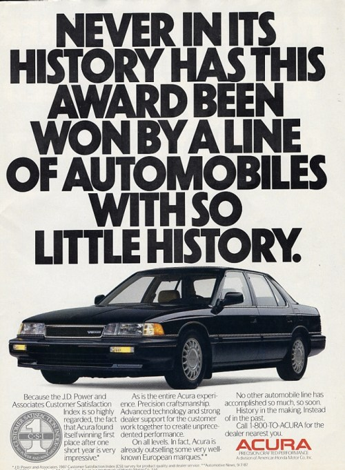 1988 Legend advertisement