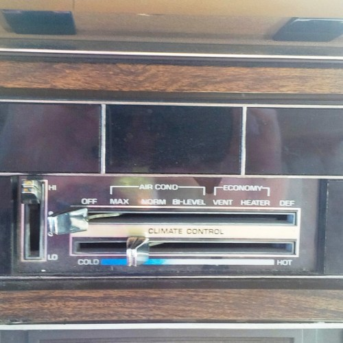 Buick 1977 Electra Climate control simplicity