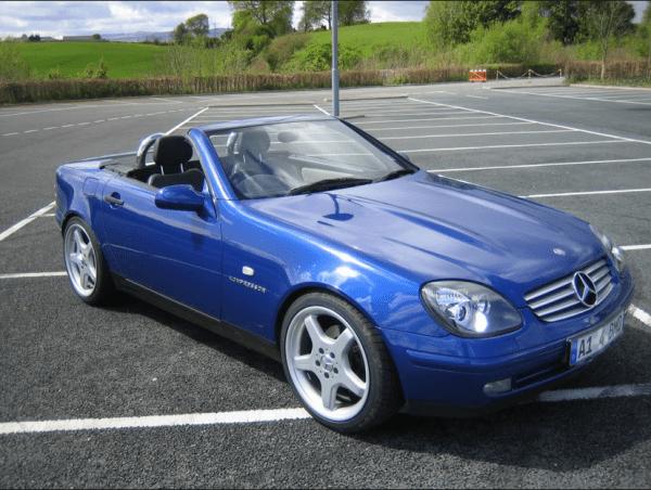 Mercedes SLK blue