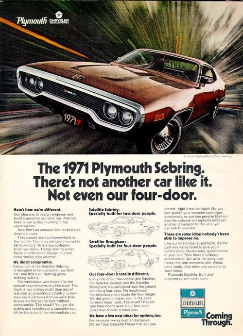 Plymouth 1971 Satellite Ad 02