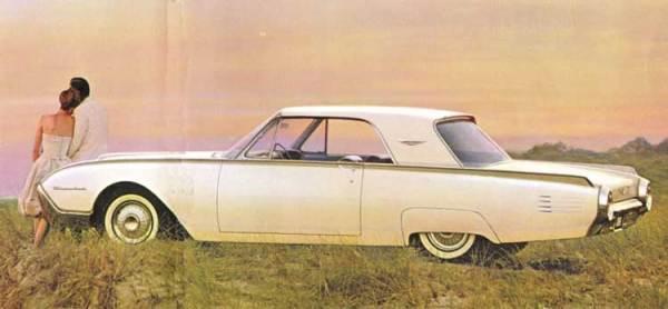 Thunderbird  1961 white ad-