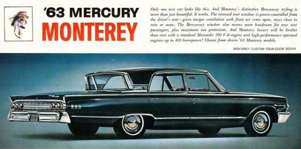Mercury 1963 Monterey ad