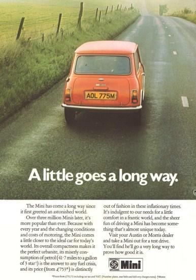 1975 Mini advert