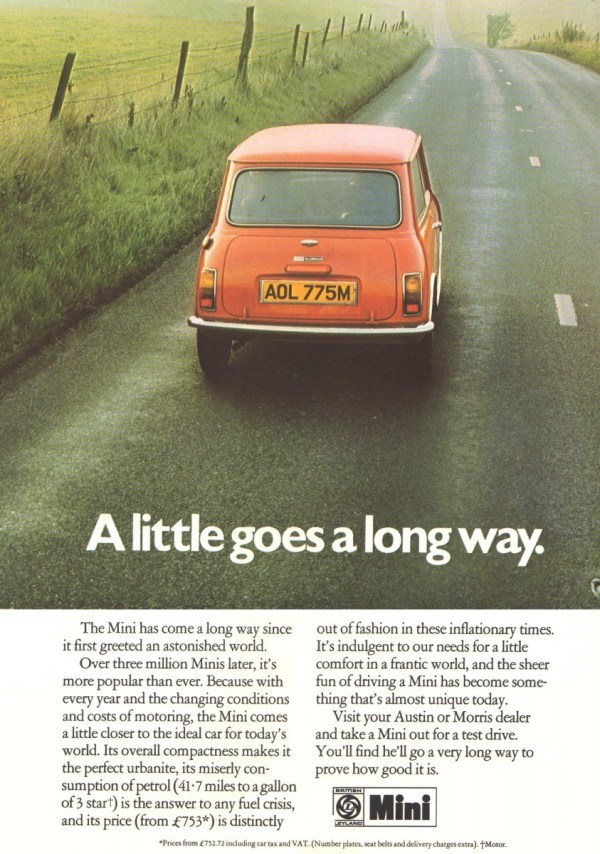 1975 Mini advert